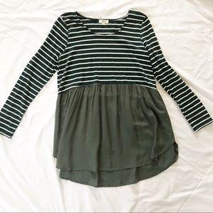 Umgee | long sleeve striped babydoll top